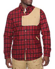 Psyberia - Urbaneer Flannel Button-Down Shirt Jacket-1426768