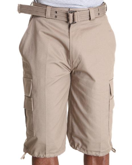Basic Essentials - Beyond the Limit Cargo Shorts with Belt
