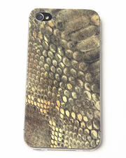 Last Season's Deals - Lime Snake Print Premium Leather Iphone Sticker-1693366