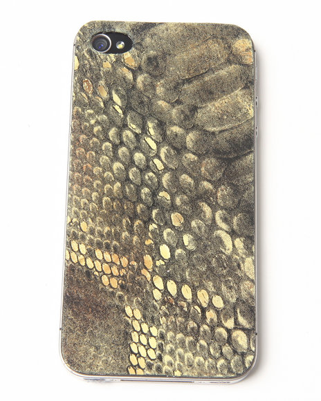 DJP OUTLET - Lime Snake Print Premium Leather Iphone Sticker
