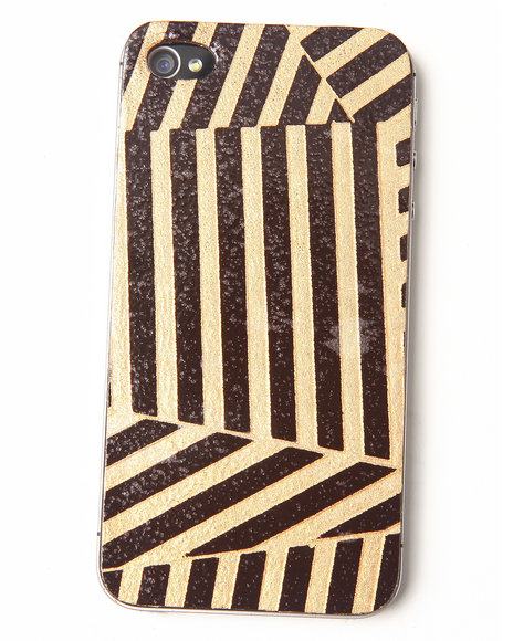 DJP OUTLET - Gold Deco Premium Leather Iphone Sticker