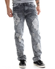 Aknowledge - Scotch Reflective underlay ripped detail denim jeans-1850871
