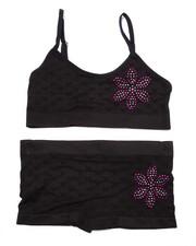 Underwear & Sleepwear - Teen Bling Flower Seamless Bra/Short Set