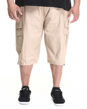 Basic Essentials - Belted Cotton Cargo Shorts (B&T)-1914526