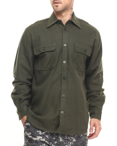 Rothco - Rothco Heavy Weight Solid Flannel Shirt (B&T)