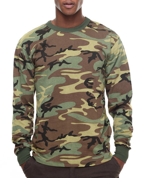 Rothco - Rothco Long Sleeve Camo T-Shirt