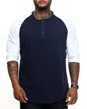 Basic Essentials - 3/4 Raglan Sleeve Henley Tee-1949105