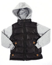 Arcade Styles - MOUNTAINER BUBBLE VEST W/ KNIT HOOD & SLEEVES (4-7)