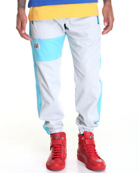-FEATURES- - Colorblock denim Jogger
