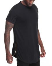 Men - Long Length Tee w Side Zipper