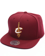 NBA, MLB, NFL Gear - Cleveland Cavaliers Wool Solid Snapback Cap-1993061