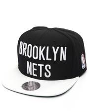Mitchell & Ness - Brooklyn Nets XL Logo 2 Tone Snapback Cap-1993106