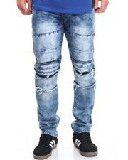 Men - B P Paneled Washed Denim Jeans