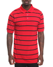 Basic Essentials - Basic Striped Pique S/S Polo-2010005