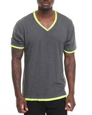Basic Essentials - Basic Double - Collar V - Neck S/S Tee-2010062