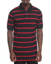 Basic Essentials - Basic Striped Pique S/S Polo-2010057