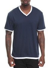 Basic Essentials - Basic Double - Collar V - Neck S/S Tee-2009953