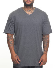 Big & Tall - Basic V - Neck S/S Tee (B&T)-2023012
