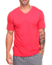 The Fourth Shop - Basic Heathered V - Neck S/S Tee-2023743