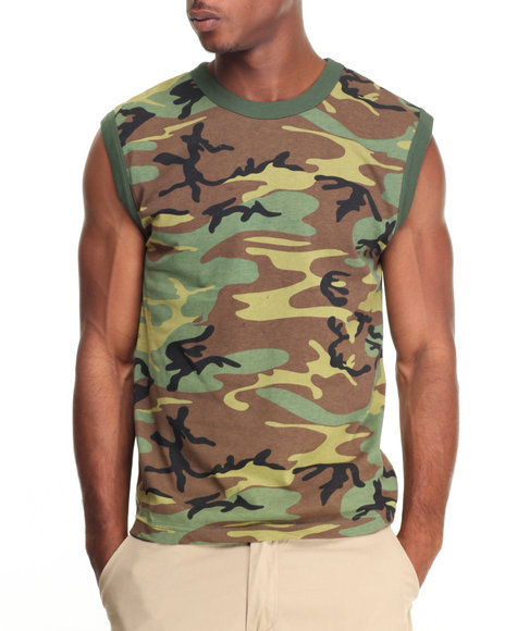 Rothco - Rothco Woodland Camo Muscle Shirt