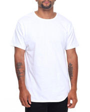 Basic Essentials - Curved Bottom Long S/S Tee With Zippers