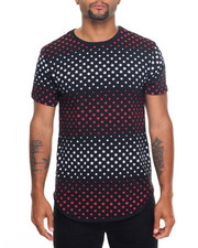 Men - Star Printed Scallop Bottom S/S Tee