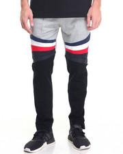 Vie + Riche - Multi - Panel Fleece Pants