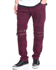 Pants - Biker Twill Pant w Zip detail
