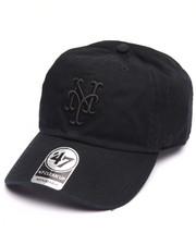 Accessories - New York Mets Black on Black Clean Up 47 Strapback Cap