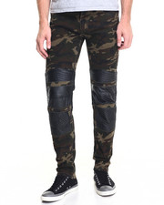 Pants - Camo / Denim Moto Pant