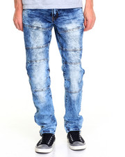 Men - Distressed Racing Jean w Ankle Zipper