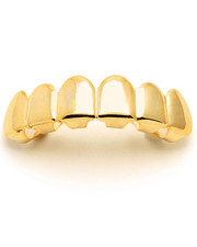 King Ice - Gold Plain Top Grillz