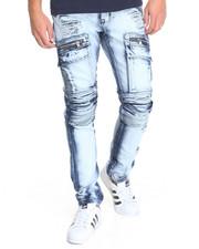 Men - Cargo Biker Denim Jeans