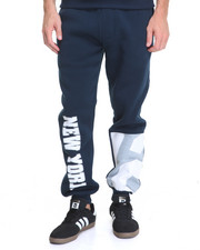 Men - New York Patched Fleece Pants