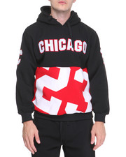 Men - Chicago Patched Fleece Pullover Hoodie