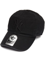 NBA, MLB, NFL Gear - New York Yankees Black on Black Clean Up Strapback Cap
