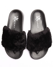 LFL by Lust for Life - SMOOTH FAUX FUR SLIDES