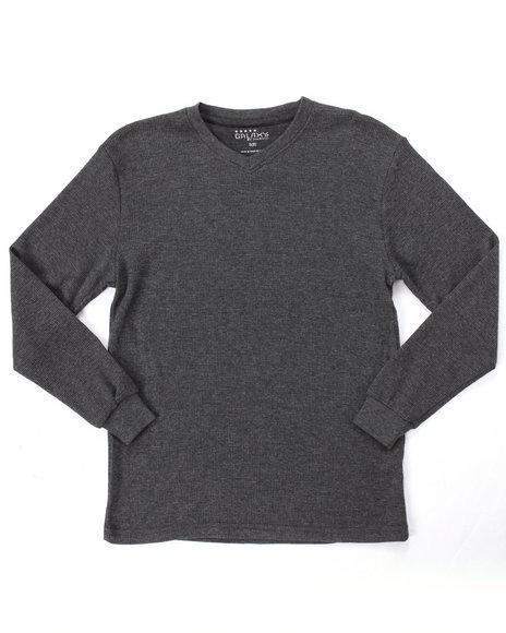 Arcade Styles - Long Sleeve V-Neck Thermal Shirt (8-20)