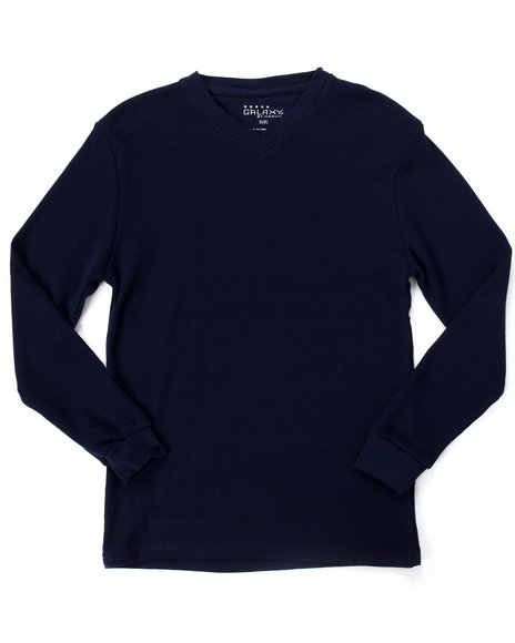 Arcade Styles - Long Sleeve V-Neck Thermal Shirt (8-20)