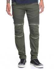 Jeans & Pants - Twill Moto Pant - Quilted  Knee