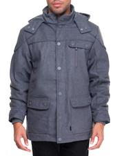 Men - Basic Hooded Wool Parka