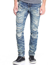 Men - Rip - Off Denim Jeans