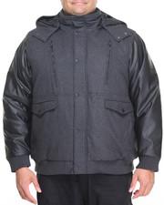 Rocawear - Hooded P U Bomber Jacket (B&T)