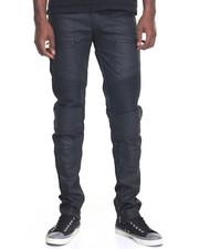 Men - Next Level Coated Moto Denim Jeans