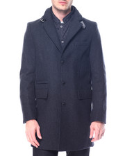 Men - Quilt - Lined Wool Peacoat