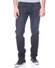 Men - Black Distressed Skinny Jean
