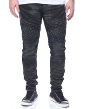 Men - Bleach Weave Moto Jean