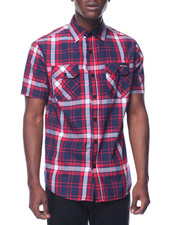 Men - Enyce Plaid S/S Button-Down