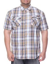Men - Enyce Plaid S/S Button-Down (B&T)