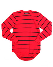 Boys - FRENCH TERRY STRIPED TOP W/ SCALLOP HEM (8-20)